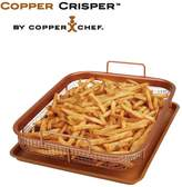 Very Copper Chef 2-piece Copper Crisper Air Fryer Oven Tray