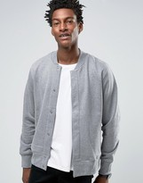 Paul Smith PS by Sweatshirt With Bomber Collar In Regular Fit Gray