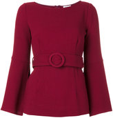 P.A.R.O.S.H. belted blouse - women - Polyamide/Spandex/Elastane/Wool - S