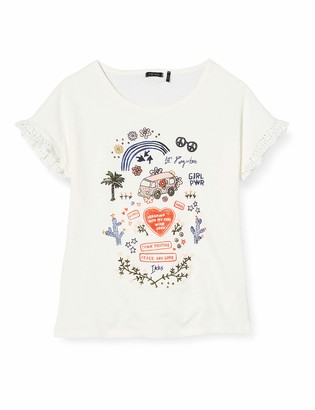 Ikks Junior Girl's Tee-Shirt Hippie Imprime T