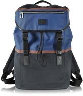 Paul Smith Color Block Cotton w/Leather Trim Men's Backpack