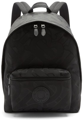 Burberry Jett Tb-jacquard Backpack - Black