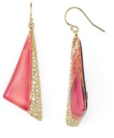 Alexis Bittar Crystal & Lucite Futurist Drop Earrings