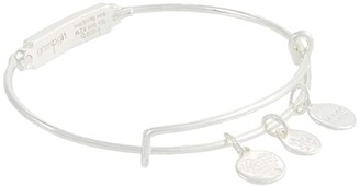 Alex and Ani Gossip Girl, Xoxo Bar Bangle Bracelet (Shiny Silver) Bracelet
