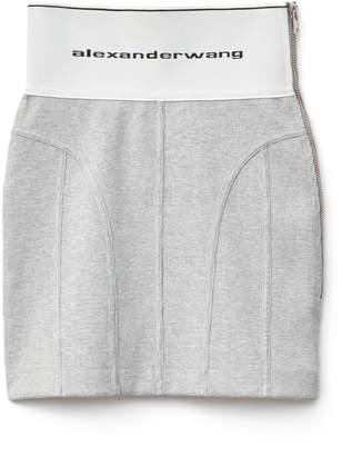Alexander Wang Alexanderwang logo elastic skirt