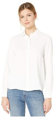 Lacoste Long Sleeve Basic Tunic Shirt (Flour) Women's Clothing