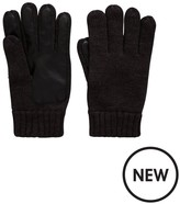 Very Mens Pu & Knit Gloves