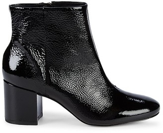 Saks Fifth Avenue Patent Leather Booties