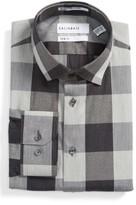 Men's Calibrate Trim Fit Non-Iron Stretch Check Dress Shirt