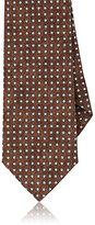 Isaia Men's Abstract-Dot-Pattern Necktie-TAN