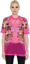 Givenchy Flower Printed Sheer Silk Organza Top