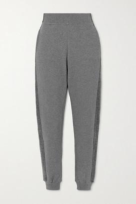 Vaara Amie Paneled Organic Cotton-jersey Track Pants - Gray