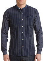 Oliver Spencer Grandad Collarless Shirt