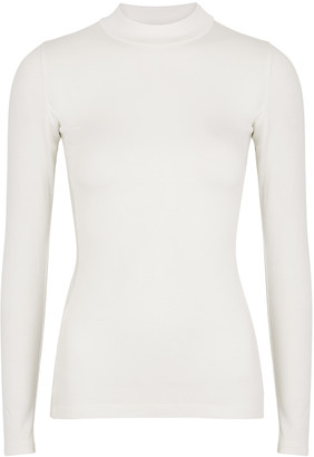 Vaara Evelyn Ivory Ribbed Jersey Top