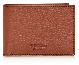 Shinola Super-Slim Leather Bifold Wallet