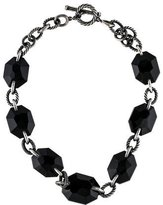 David Yurman Onyx & Black Diamond Chain Necklace