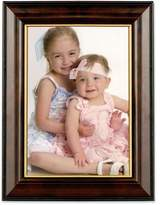 Lawrence Frames Walnut and Black Wood 5 by 7 Picture Frame, Gold Line
