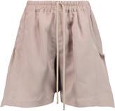Rick Owens Silk gabardine shorts