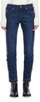 Alexander McQueen Frayed Denim Ankle Jeans