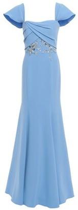 Marchesa Off-the-shoulder Embellished Crepe Gown