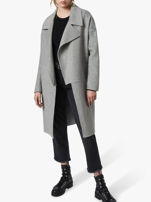 AllSaints Ryder Coat, Pale Grey