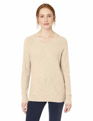 Daily Ritual Amazon Brand Women's Lightweight Open-Crewneck Raglan Pullover Sweater