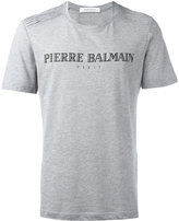 Pierre Balmain logo print T-shirt - men - Cotton/Polyester - 50