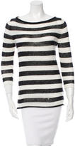 Tory Burch Striped Linen-Blend Sweater