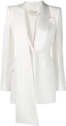 Alexander McQueen Asymmetric Draped Detail Blazer