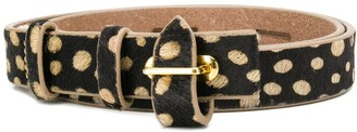 Antik Batik Polka Dot Leather Belt