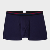 Paul Smith Men's Navy Low-Rise Boxer Briefs With Striped Waistband