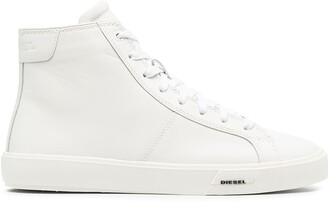 Diesel High-Top Leather Sneakers