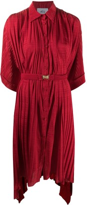 Atu Body Couture Plisse Shirt Dress