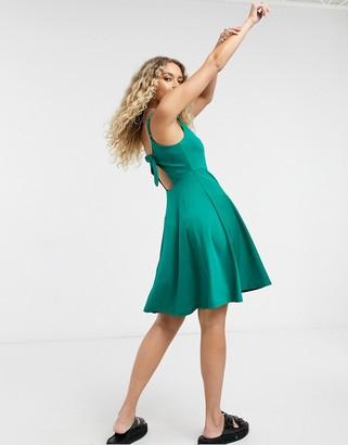 Vila tie-back dress in green