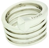 Gucci Chiodo 18K White Gold Spiral Nail Ring