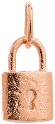 Mocha Petite Lock Charm w/ 18K Rose Gold Vermeil