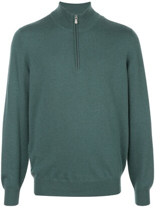 Brunello Cucinelli Half-Zip Long Sleeve Sweater