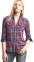 Gap 1969 Plaid Denim Western Shirt