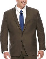 COLLECTION Collection by Michael Strahan Brown Sharkskin Suit Jacket - Big & Tall