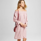 Knox Rose Women's Off The Shoulder Dress with Tie Sleeves