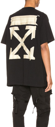 Off-White Off White Tape Arrows Over Tee in Black & Beige | FWRD