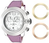Glam Rock Women's SoBe Chronograph Dial Light Purple Leather Watch GLAMIN-GR32182