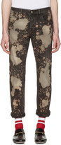 Gucci Black Bleached Tapered Jeans