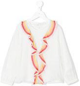 Chloé Kids rainbow ruffle blouse