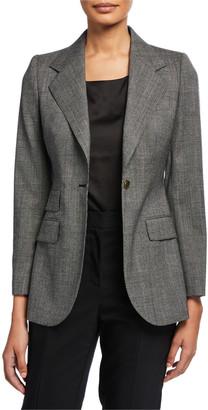 Dolce & Gabbana Tartan One-Button Jacket