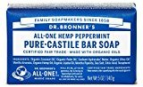 Dr. Bronner's Pure-Castile Bar Soap - Peppermint 5oz. (Pack of 3)