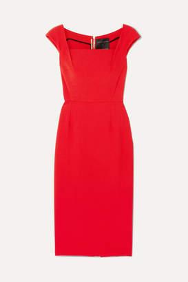 Roland Mouret Maltock Stretch-crepe Dress - Crimson