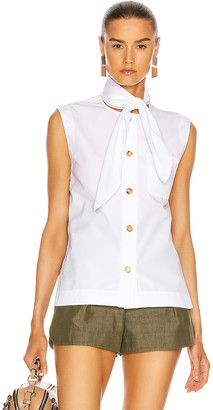 Chloé Sleeveless Tie Top in White | FWRD