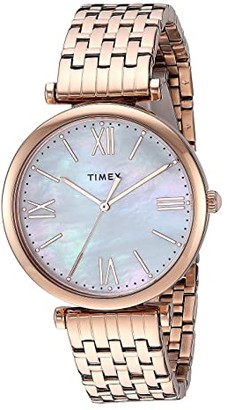 Timex 35 mm Parisienne 3-Hand (Rose Gold/Mother-of-Pearl/Rose Gold) Watches