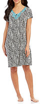 Kate Landry Casuals Embroidered Zebra Zip Patio Dress